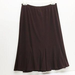 RONNI NICOLE Sport Skirt Brown Ruffle Flounce S